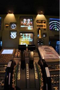 Throttles of Airbus A320 Flight Simulator Experience